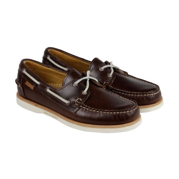 Sebago Crest Docksides Men/'s Grey Leather Boat Shoes